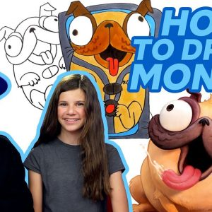 How to Draw Monchi the Pug with KidArt 🐶 The Mitchells vs. The Machines | Netflix Jr