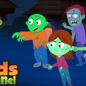Zombie Town | Schoolies Cartoons | Halloween Song for Children from Kids Channel