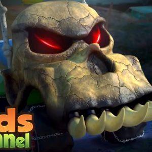 Halloween Night | Monster Truck Dan | Halloween Car Cartoon Videos for Children from Kids Channel