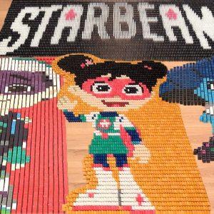 45,000 Falling StarBeam Dominoes 🤩 Domino Screenlink | Netflix Jr