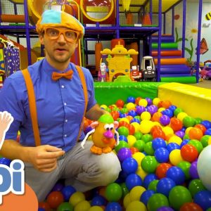 Blippi Learning Body Parts At The Indoor Play Place | Educational Videos For Kids