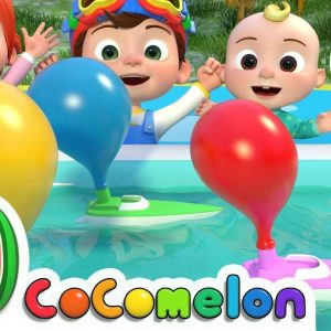 Balloon Boat Race + More Nursery Rhymes & Kids Songs - CoComelon