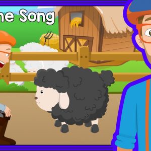 Bedtime Songs with Blippi | Baa Baa Black Sheep - Lullaby for Sleep