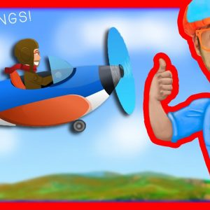 Blippi Airplanes for Kids Compilation | Nursery Rhyme Playlist