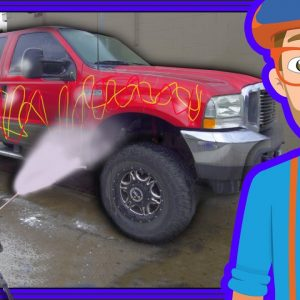 Blippi Car Wash | Truck Videos for Children