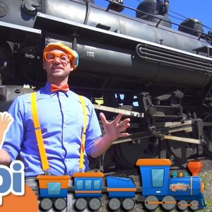 Blippi Explores A Steam Train | Learning Trains For Kids