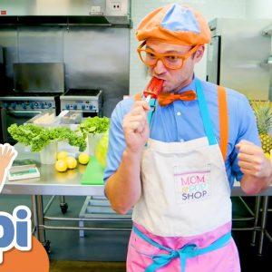 Blippi Learns How To Make Fruit Popsicles | Educational Videos For Kids