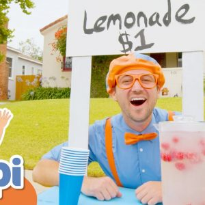 Blippi Makes A Lemonade Stand | Educational Videos For Toddlers