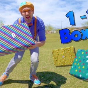 Blippi Teaches Numbers 1 to 10 for Children | Surprise Boxes!