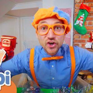 Blippi Visits A Christmas Tree Farm | Educational Videos For Kids