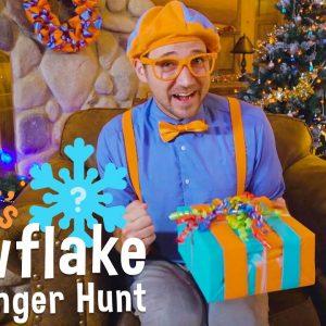 Blippi's Holiday Movie - Christmas Scavenger Hunt for Kids