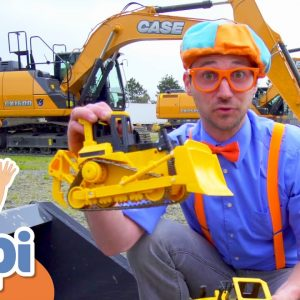 Blippi Learns About Diggers | Construction Vehicles For Kids | Educational Videos For Toddlers