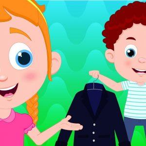Steps to Dress | Schoolies Cartoons | Nursery Rhymes & Children Songs by Kids Channel