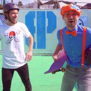 Blippi Learns about Skateboarding with Shaun White | Outdoor Activities for Kids