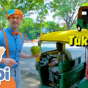 Blippi Travels To India! Learning Vehicles With Blippi | Educational Videos For Kids