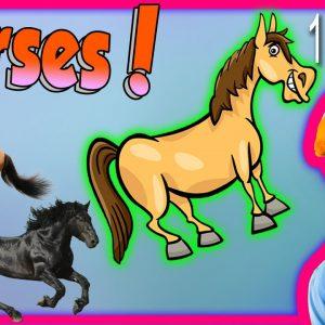 Horses for Children - Learn Farm Animals for Kids. The Horse Song from Blippi