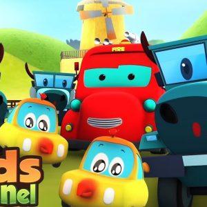 Car Cartoon | Street Vehicles | Kids Cars & Monster Trucks Stories | Nursery Rhymes & Baby Songs