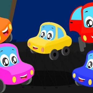 Five Little Babies Nursery Rhymes | Little Red Car Cartoons - Kids Channel