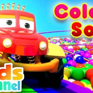 Colors Song | Learning Videos for Children | Monster Truck Dan Cartoons - Kids Channel