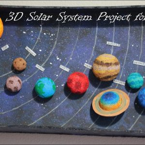How to make 3D Solar System Project for Science Fair or School