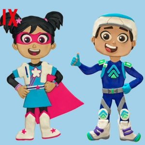 How To Make StarBeam & Boost Out of Clay 🤩 Netflix Jr