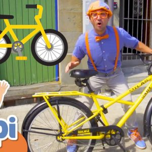 Blippi Learns & Explores The Town on a Bicycle | Educational Videos For Kids