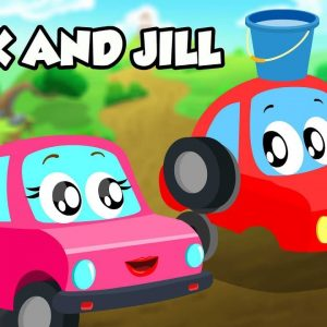 Jack and Jill Rhyme | Little Red Car Cartoons | Songs for Children