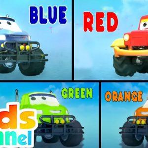 Learn Colors | Monster Truck Dan Car Cartoon Videos from Kids Channel