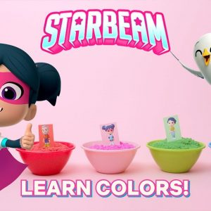 Learn Colors with StarBeam SUPER Satisfying Sand! | Netflix Jr