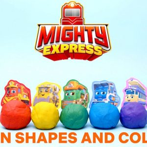Learn Shapes & Colors w/ Mighty Express Clay 🚂 Netflix Jr