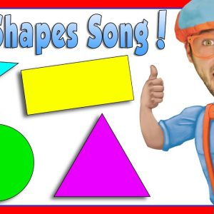 Learn Shapes for Kids with Blippi | The Shapes Song