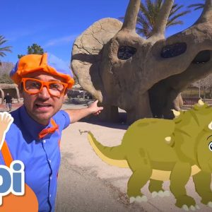Learning Dinosaurs With Blippi | Educational Videos For Kids