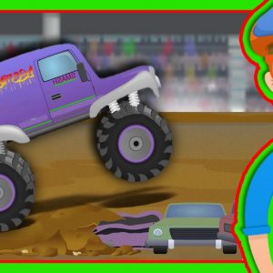 Monster Trucks for Children with Blippi | The Monster Truck Song