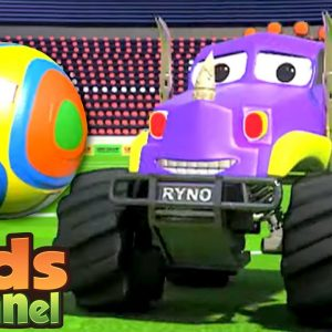 Monster Truck Dan in Goal | Car Cartoon Videos for Children | Street Vehicles by Kids Channel