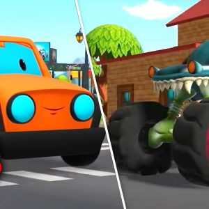 Road Rangers Vs Haunted House Monster Truck | Car Cartoon Videos for Kids