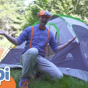 Blippi Visits A Camp Site | Learning How To Camp | Educational Videos  For Kids