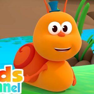 A Snail | Preschool Nursery Rhymes for Children | Cartoon Videos from Kids Channel