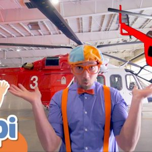 Blippi Learns And Explores A Firefighting Helicopter | Educational Videos For Kids