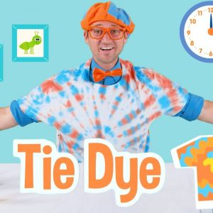 Blippi Learns About Colors For Toddlers and Makes Tie Dye T-Shirts | Educational Videos For Kids