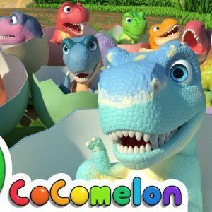 Ten Little Dinos + More Nursery Rhymes & Kids Songs - CoComelon