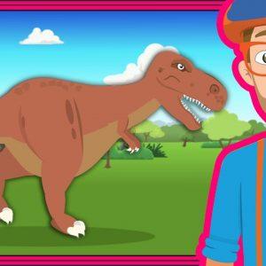 The Dinosaur Song by Blippi | Dinosaurs Cartoons for Children