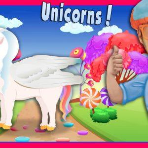 The Unicorn Song by Blippi | Nursery Rhyme Story