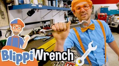 Blippi Visits an Auto Body Shop | Learning Tools & Vehicles For Kids | Educational Videos