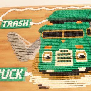 45,000 Falling Dominoes: Trash Truck Edition 💚 Domino Screenlink | Netflix Jr