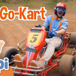Blippi Explores a Go Kart | Vehicle Videos For Kids | Educational Videos For Kids