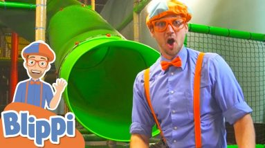 Learning At The Kids Club Indoor Playground With Blippi   Educational Videos For Kids