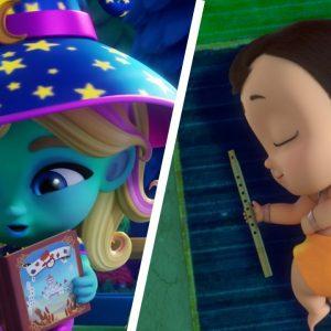 'Bedtime Stories' Singalong for Kids 🥱 Mighty Little Bheem, StarBeam & More | Netflix Jr Jams