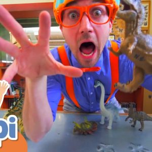 Blippi Visits an Children's Museum! | Learn About Dinosaurs | Educational Videos For Kids