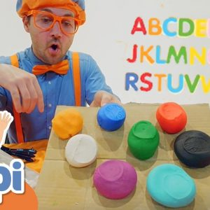 Blippi Learns Colors & Letters For Kids With Clay | Educational Videos For Kids