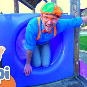 Learning With Blippi At An Outdoor Playground | Educational Videos For Kids